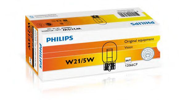 Лампа накаливания W21/5W12V 21/5W W 3X16q (пр-во Philips)                                             арт. 12066CP