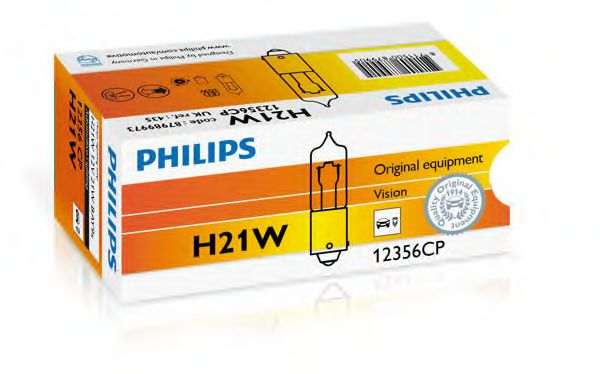 12356CP (PHILIPS) H21W 12V 21W BAY9s  арт. 12356CP