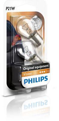 Лампа накаливания P21W12V 21W BA15s (blister 2шт) (пр-во Philips)                                     арт. 12498B2