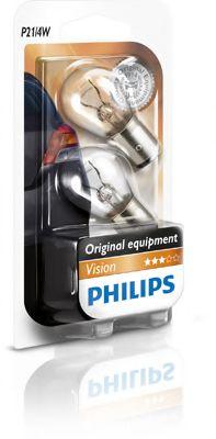Лампа накаливания P21/4W 12V BAZ15d 2шт blister (пр-во Philips)                                       арт. 12594B2