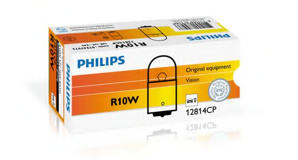 Лампа накаливания R10W12V 10W BA15s (пр-во Philips)                                                   арт. 12814CP