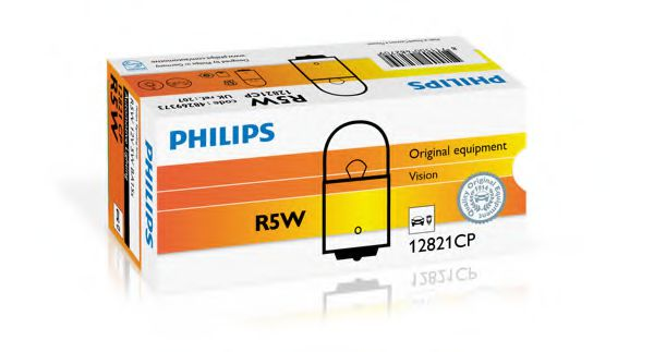 Лампа накаливания R5W12V 5W BA15s (пр-во Philips)                                                     арт. 12821CP