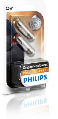 Лампа накаливания C5W 12V SV8,5 3200К 2шт blister (пр-во Philips)                                     арт. 12844B2