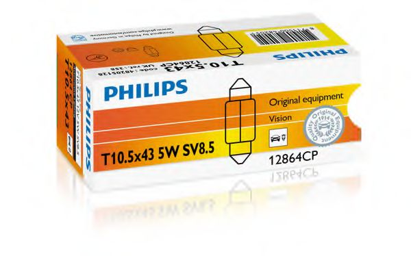 Лампа накаливания 12V5WSV8,5 (пр-во Philips)                                                          арт. 12864CP