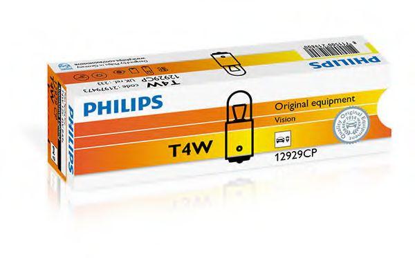 Лампа накаливания T4W12V 4W BA9s (пр-во Philips)                                                      арт. 12929CP