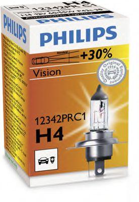 Лампа накаливания H4 12V 60/55W P43t-38 VISION (пр-во Philips)                                        арт. 12342PRC1