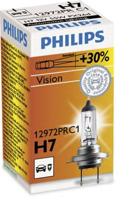 Лампа накаливания H7 12V 55W PX26d Premium (пр-во Philips)                                            арт. 12972PRC1