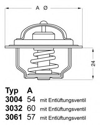 Термостат SKODA (пр-во Wahler)                                                                       WAHLER 303288