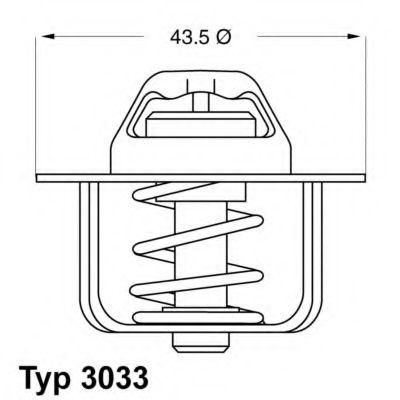 WAHLER CIITROEN Термостат C25, PEUGEO J5 WAHLER 303384D