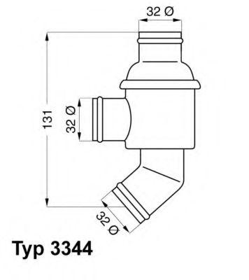 """WAHLER BMW Термостат 80""""С M10B16/B18 WAHLER 334480"""