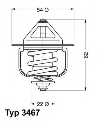 WAHLER OPEL Термостат CORSA 1.5D,ASTRA 1.7TD 85C WAHLER 346785D