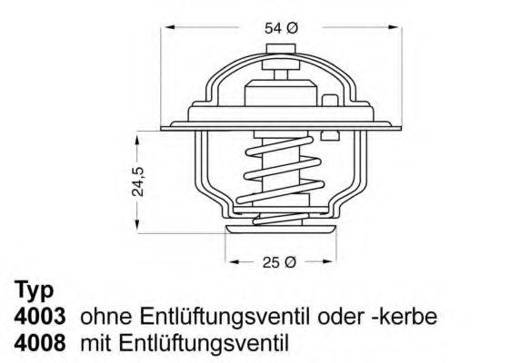 Термостат FIAT; OPEL; RENAULT (пр-во Wahler)                                                          арт. 400879D