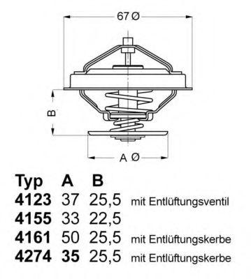 WAHLER AUDI Термостат с прокладкой  A4,A6, VW PASSAT 2.8  92C WAHLER 427492D
