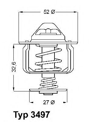 WAHLER FORD Термостат t-88C Mondeo 00-, Transit, Citroen Jumper 06- WAHLER 349788D