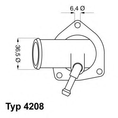 WAHLER OPEL Термостат Astra F/G  1,4/1,6 16V -05,  Zafira 1,6 16V 99- WAHLER 420892D