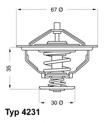 WAHLER BMW Термостат 525I -87, 735i/745i -86. WAHLER 423180D