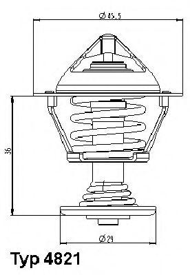 WAHLER CITROEN Термостат AX,P.106,305,1.4,1.5D 89 WAHLER 482189D
