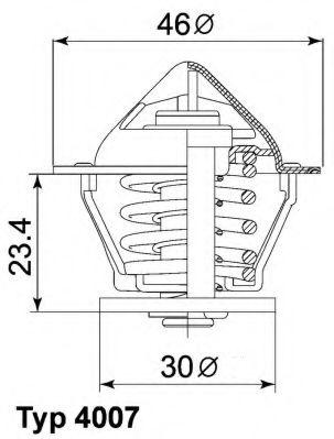 WAHLER Термостат DAIHATSU 1.2D,1.4D WAHLER 400780D