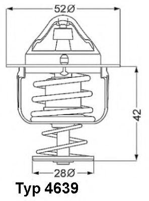 Термостат, охлаждающая жидкость  арт. 463982D
