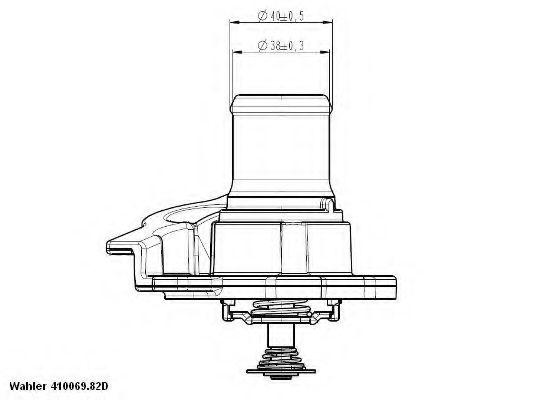 WAHLER FIAT Термостат Ducato 2.3 D WAHLER 41093782D