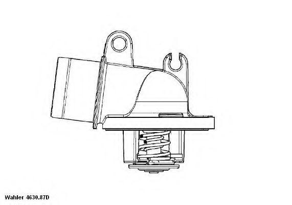 Термостат, охлаждающая жидкость  арт. 463087D