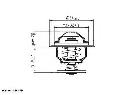 Термостат SEAT; VW; SKODA; AUDI (пр-во Wahler)                                                       WAHLER 482087D