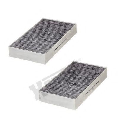 Фильтр салона MB GL, ML 06- угольный (2шт.) (пр-во HENGST)                                           HENGSTFILTER E2912LC012