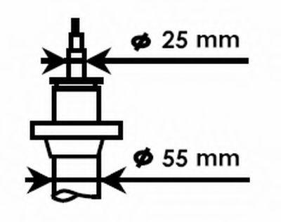 55mm Ам-тор перед. газ. VAG Caddy/Passat B6 07-// Skoda Octavia 04-  KAYABA 335808