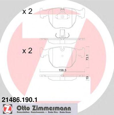 Гальмівні колодки перед BMW E39 30i-M5/E38 40i/X5 ZIMMERMANN 214861901