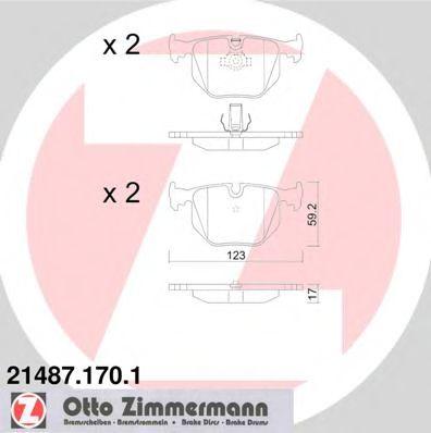 Гальмівні колодки зад BMW E38 2,8-5,0/X3/Х5 3,0-4, ZIMMERMANN 214871701