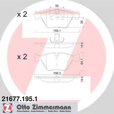 Гальмівні колодки перед BMW E39 до 97г ZIMMERMANN 216771951