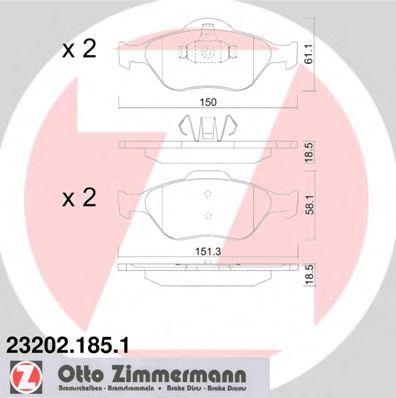 Гальмівні колодки перед Ford Fiesta/Fusion/Mazda2 ZIMMERMANN 232021851