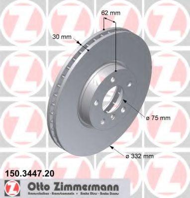 Гальмiвнi диски ZIMMERMANN 150344720