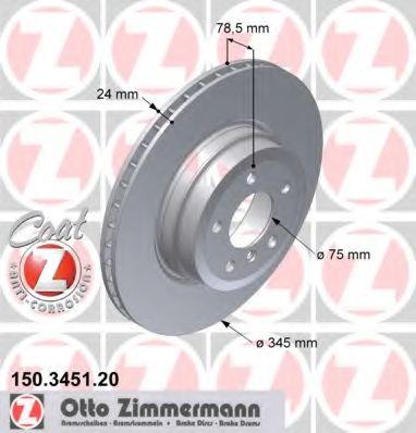 Фото - Гальмiвнi диски ZIMMERMANN - 150345120