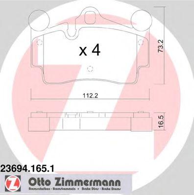 Гальмівні колодки дискові зад. VW Touareg 2.5 04-1 ZIMMERMANN 236941651