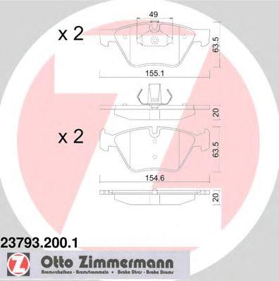 Гальмівні колодки перед BMW E60 20-25i ZIMMERMANN 237932001