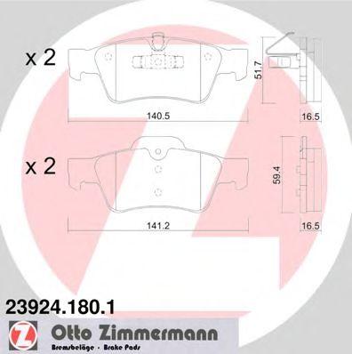 Гальмівні колодки зад Mercedes ML W164/GL-class ZIMMERMANN 239241801