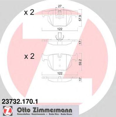 Гальмівні колодки зад BMW E60 2,0-3,0 E63 30/X5 (E ZIMMERMANN 237321701