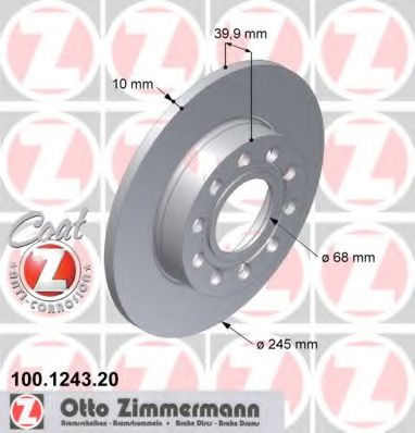 Диск тормозной AUDI A4  00-08 TY MINTEX арт. 100124320