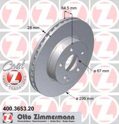 Гальмiвнi диски ZIMMERMANN 400365320