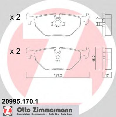 Гальмівні колодки зад BMW E34 18-40i/E32 30-50i ZIMMERMANN 209951701