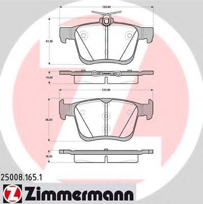 Гальмівні колодки зад.VW Golf VII/Audi A3 1.2-2.0 12- ZIMMERMANN 250081651