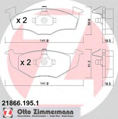 Гальмівні колодки P VW Golf III/Vento 95> ZIMMERMANN 218661951