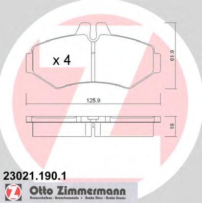 Гальмівні колодки зад Mercedes G-class/VW LT 35 (B ZIMMERMANN 230211901