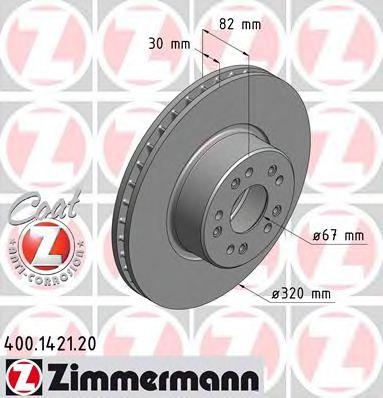 Диск гальмівний DB 140 400-600/S280-S350 ZIMMERMANN 400142120