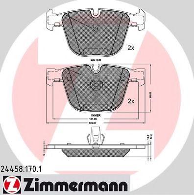 Гальмівні колодки BMW X5 F15  12- ZIMMERMANN 244581701
