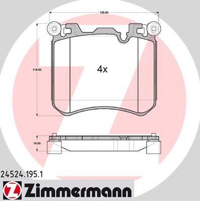 Гальмівні колодки BMW X5 F15  12- ZIMMERMANN 245241951