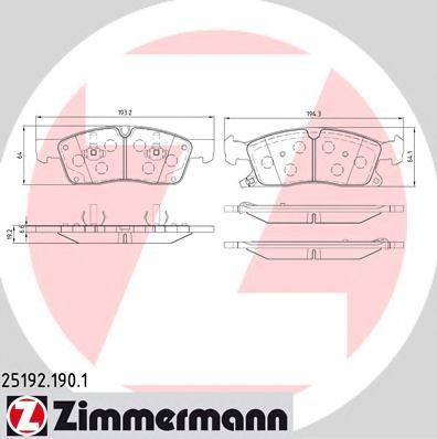 Гальмівні колодки перед MB ML W166 25d-35i/GL X166 ZIMMERMANN 251921901