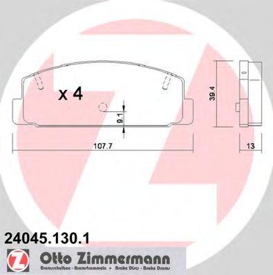 Гальмівні колодки зад Mazda6 1,8 - 25i ZIMMERMANN 240451301