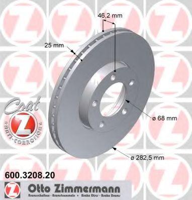Диск гальмівний ZIMMERMANN 600320820